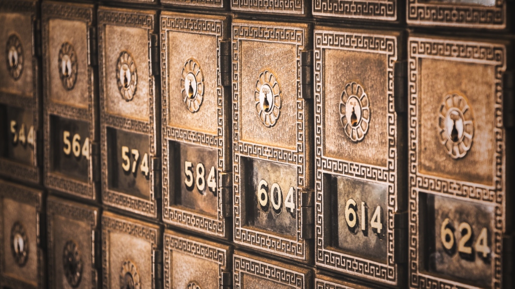 Image of safety deposit boxes