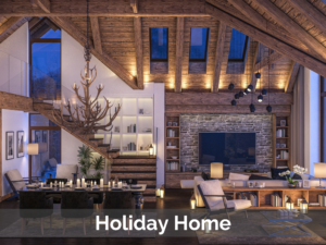 Chalet depicting high value holiday home