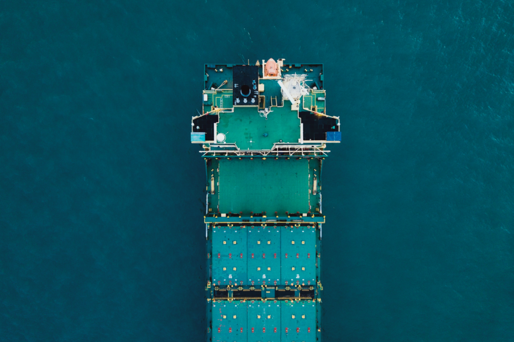 Marine Cargo Ship in body of water